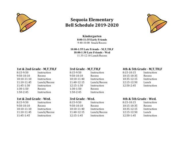 AIOD_2019 11 Full Bell Schedule